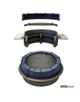 Iinspektionslucka med fläns-i-ring design - Innovativ universal lucka for tankar