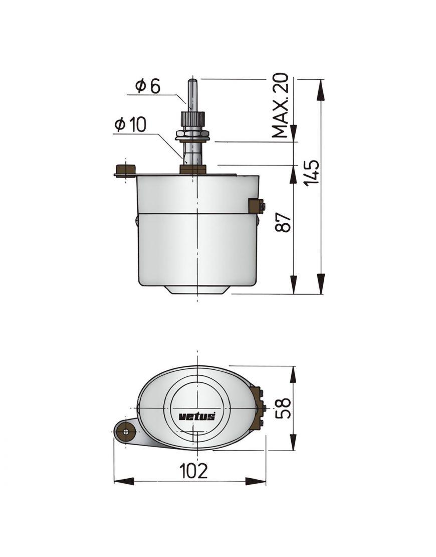 Populära Komplett torkarmotor typ ORW - 12 Volt PJ-85