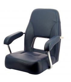 Sailor. Högkvalitativ rorsmansstol med armstöd, mörkblå