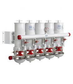 Vattenavskiljande bränslefilter CE/ABYC, 5 i serie