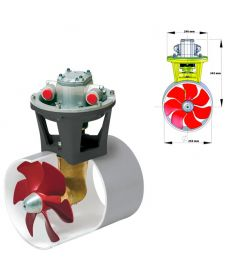 Hydraulisk bogpropeller, 160 kgf, inkl. hydraulmotor 9,5 kW, för tunneldiameter 250 mm