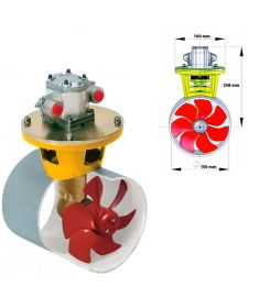 Hydraulisk bogpropeller, 55 kgf, inkl. hydraulmotor 3,5 kW, för tunneldiameter 150 mm