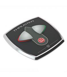 Touchpanel med tidsfördröjningsrelä för bogpropeller, aluminium, 97 x 95 mm, inbyggnadsd. Ø52 mm, 12/24 V