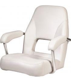 Sailor. Högkvalitativ rorsmansstol med armstöd, vit