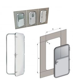 Custom made hinged door with or without window.