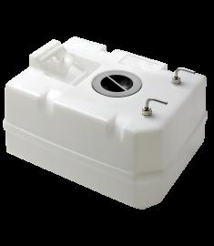 Dieseltank i plast, 40 l. Inkl. anslutningar, för 10 mm bränsleslang