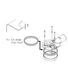 Gummi pakning til tank tykkelse 1.5 til 4 mm (bruges til FTL38..B &  FTL51..B) (Højde på pakning 15mm)