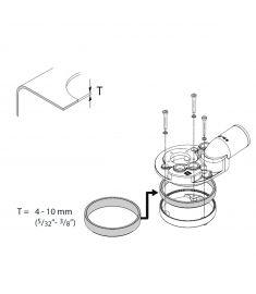 Gummi pakning til tank tykkelse 4 til 10 mm (bruges til FTL38..B &  FTL51..B) (Højde på pakning 15mm)