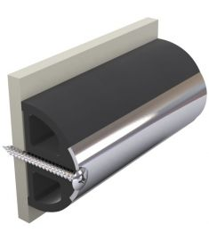 Avbärarlist, mörkgrå, typ HARO5S, 50 x 34 mm, exkl. instickslist, rulla om 20 meter (pris/m)
