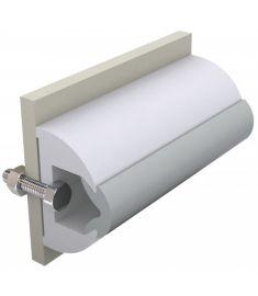 Avbärarlist, vit, typ Haro, 60 x 35 mm, exkl. instickslist, rulle om 20 meter (pris/m)