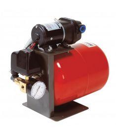 Tryckvattensystem 12 Volt, inkl. pump och expansionskärl på 8 l samt manometer