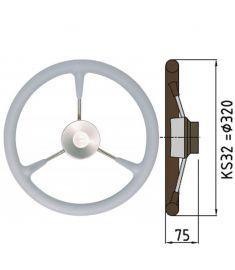 Ratt belagd med PU-skum typ KS - Ø32 cm - Grå