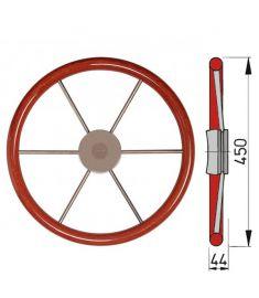 Skeppsratt med mahognyring, typ KW - Ø45 cm