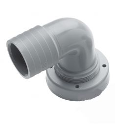 Slanganslutning, 38 mm, vinklad, för fasta tankar