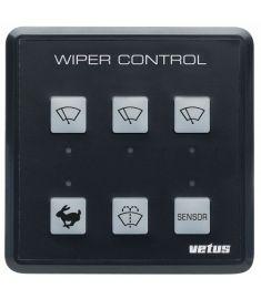 Vindrutetorkarkontrollpanel för upp till 3 torkarmotorer, 12/24 volt, inkl kontrollpanel