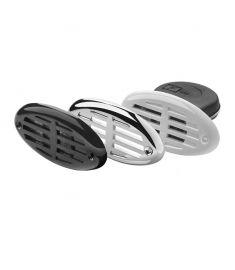 Infällt signalhorn - 12 Volt - inklusive galler i vitt, svart samt kromat