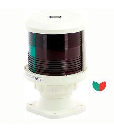 Tvåfärgad lanterna (SB och BB) (basmonterad) - vitt (exkl. glödlampa)