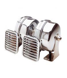 Kompakt dubbel horn - 12 Volt - hög och låg ton 500/410 HZ
