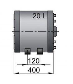 20 liter Vetus dubbelmantlad varmvattenberedare