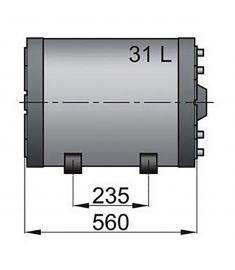 Dubbelspiral varmvattenberedare typ WHD 31 litre
