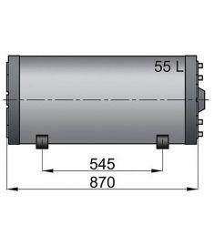 55 liter Vetus dubbelmantlad varmvattenberedare