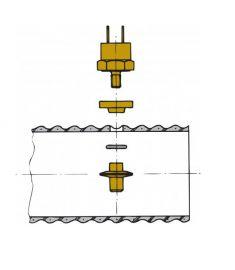 Givare för avgaslarm, för montering i VETUS exhaust Hose