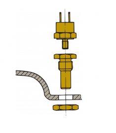 Sensor för avgastemperaturen för installation i ljuddämparen