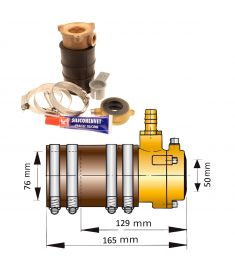 50mm self-aligning inner bearing with dual lip seal III